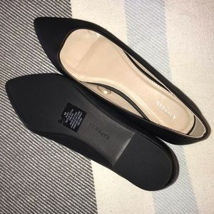 Black pointed Express flats - Size 10 NEW